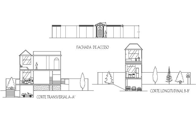 Section View House Drawing
