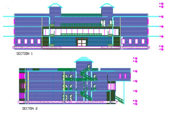 Section center line detail dwg file