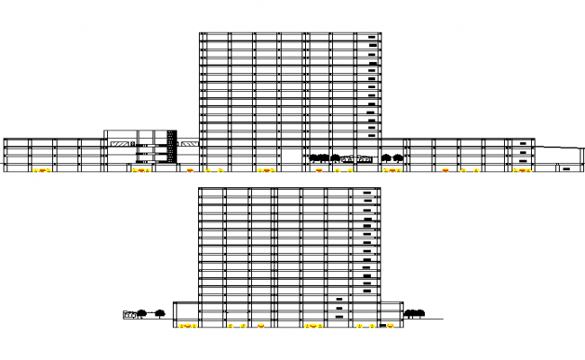 Section commercial building layout plan dwg file