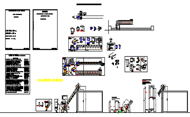Section design drawing of elevator conveyor  design drawing
