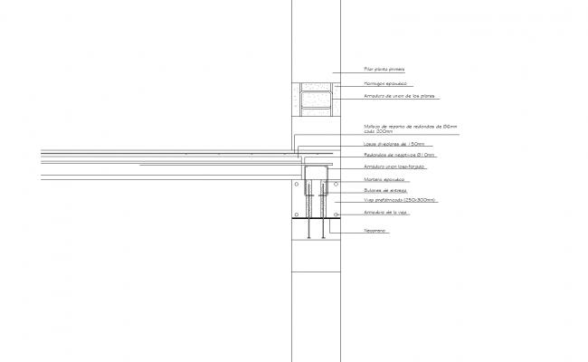 Section detail plan dwg file.