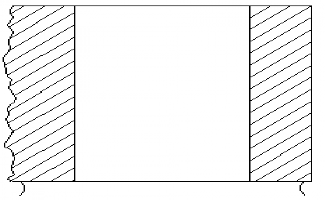 Section drawing block cut of stone face design drawing