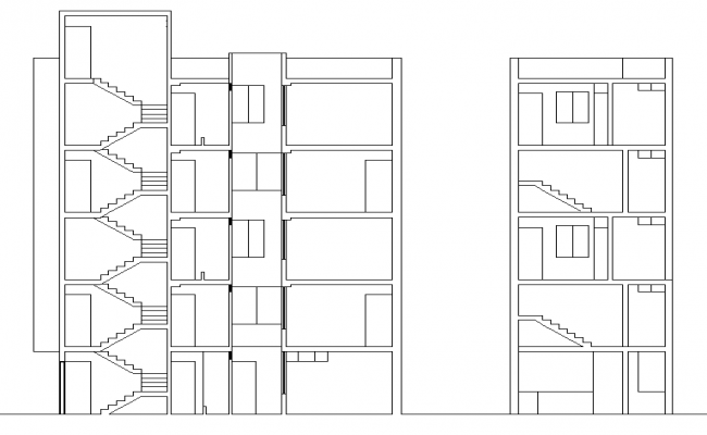 Section duplex plan detail dwg file