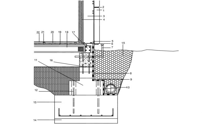 Section foundation detail dwg file