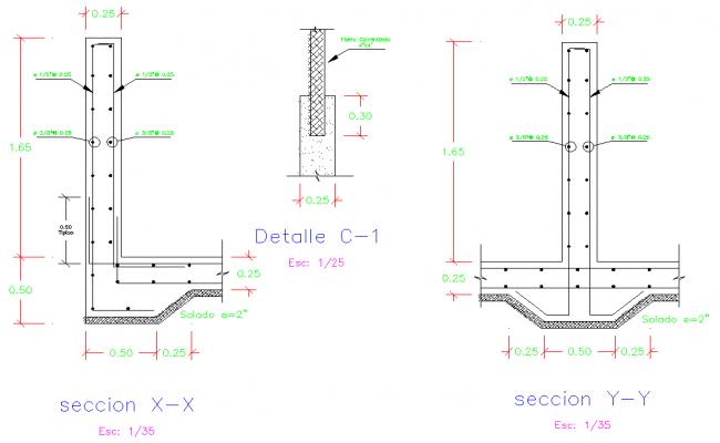 Section foundation plan autocad file