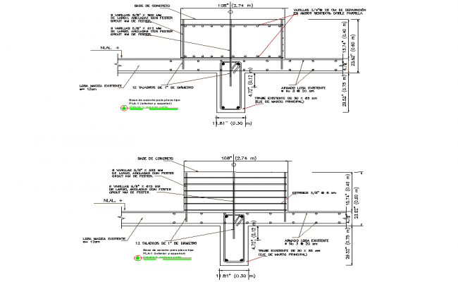 Section foundation plan layout file