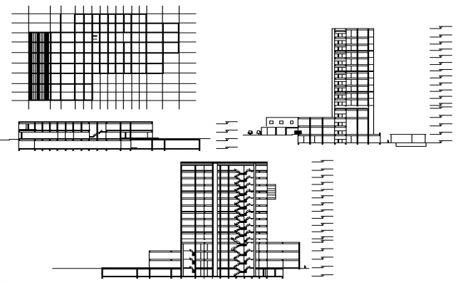 Section hotel detail dwg file