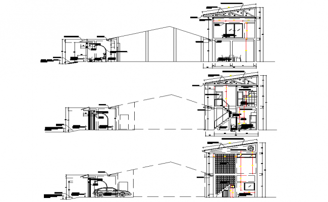 Section house detail autocad file