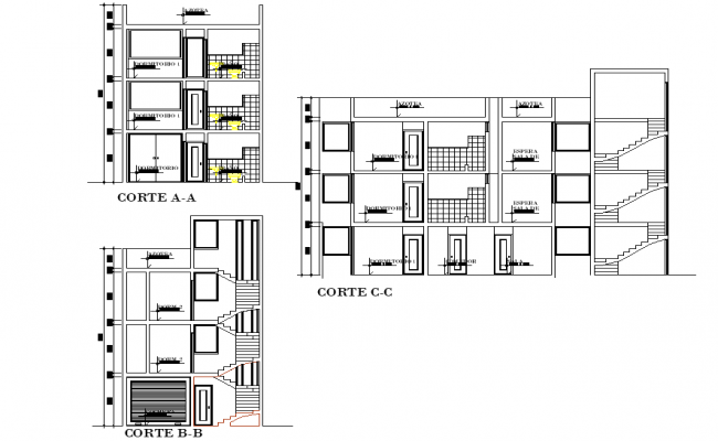 Section house family plan layout file