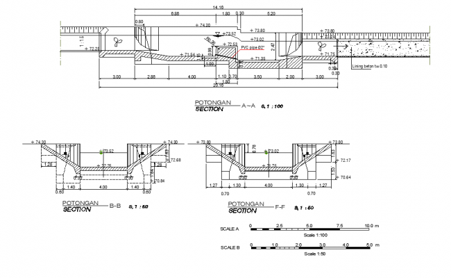 Section irrigation construction plan autocad file