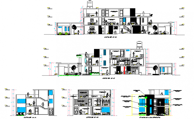 Section living place detail layout file