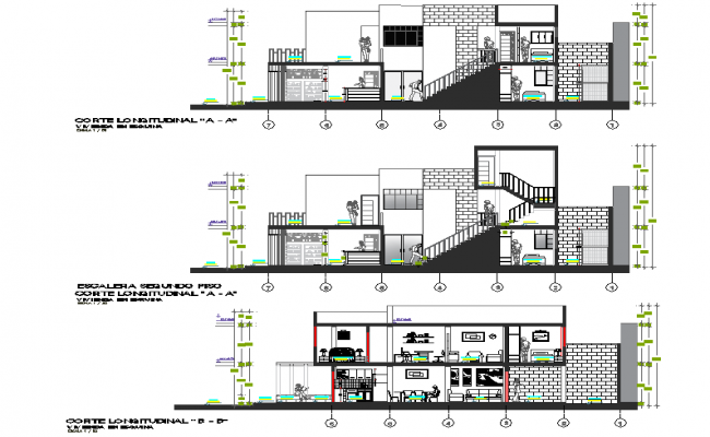 Section modular housing plan layout file