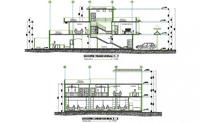 Section more housing trade plan detail dwg file
