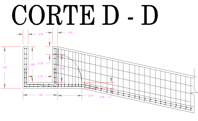 Section plan capitation dwg file