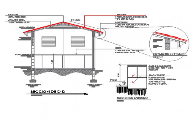 Section plan detail dwg file