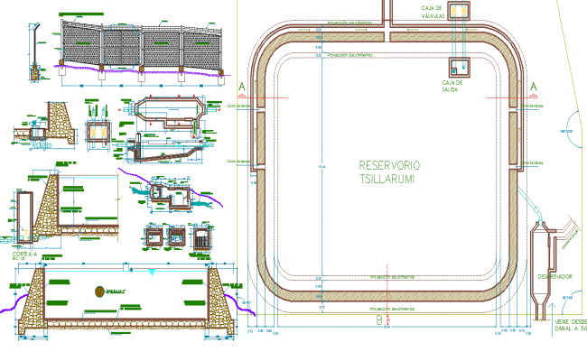Section plan plan and structure detail