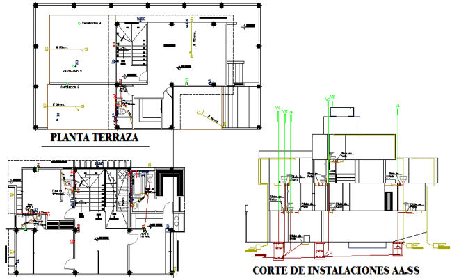 Section plant average housing detail dwg file