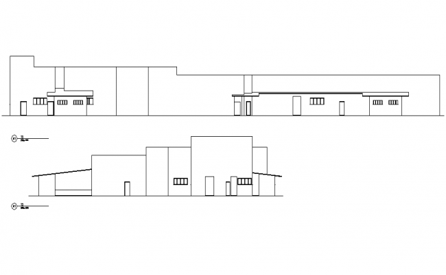 Section refrigerator slaughter house plan detail dwg file