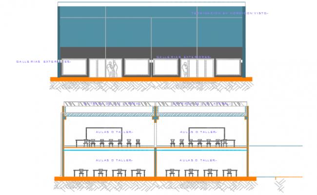 Section school detail dwg file