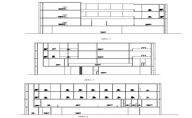 Section shopping mall autocad file