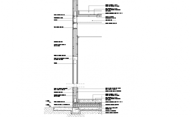 Section steel framing drywall plan detail dwg file.