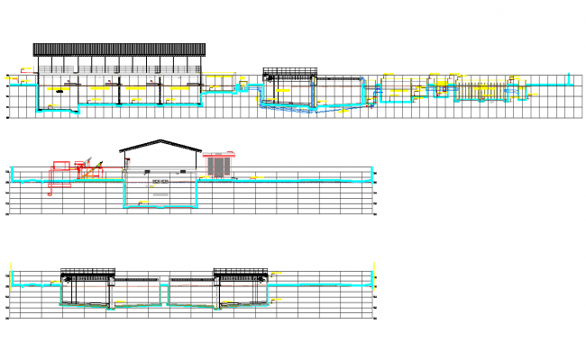 Section treatment plant drinking water plan autocad file