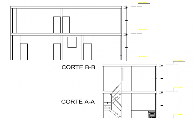 Section unifamily housing detail dwg file