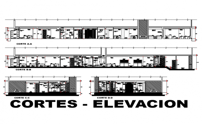 Office Elevation In AutoCAD File