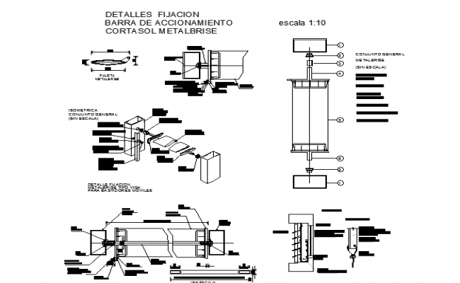 Sectional detail and construction plan