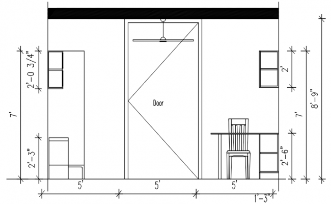 Kitchen Elevation Design In DWG File