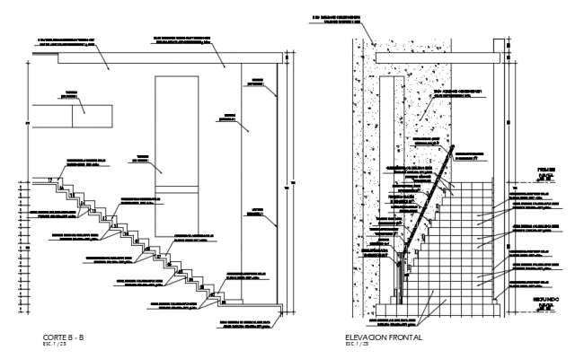 Staircase Drawing in AutoCAD
