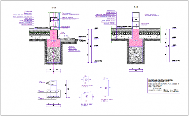 Sectional view of construction of slab for duplex dwg file