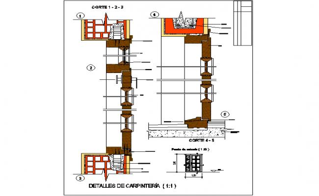 Sections of door and window