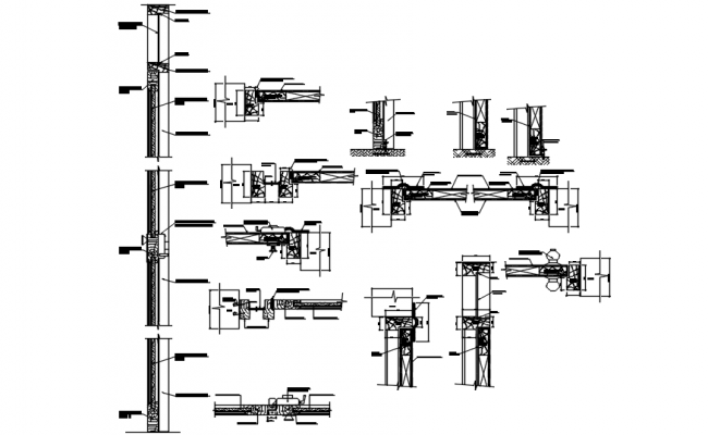 Sections of the door in Autocad