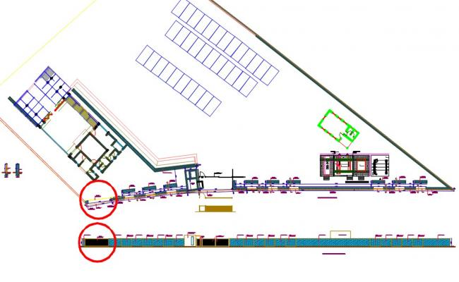Security Wall CAD Drawing