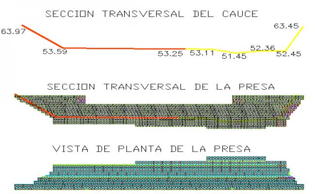 Sediment retention damingavion detail dwg file
