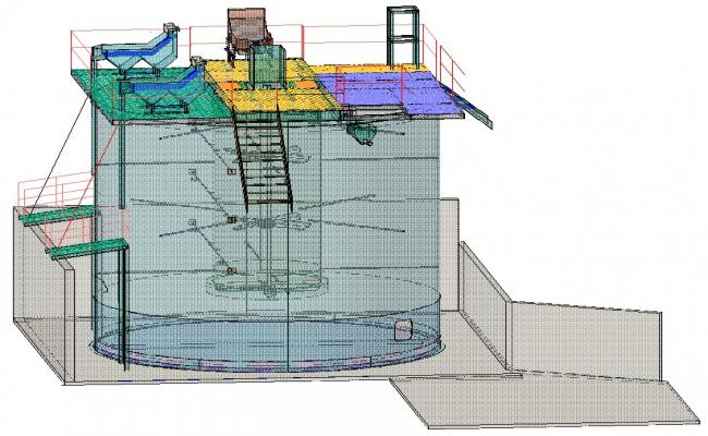 Sedimentation tank 3d
