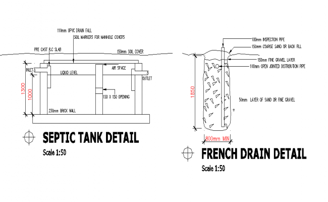 Septic Tank Structure Detail
