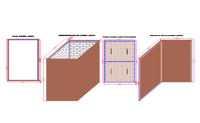 Septic tank with soak pit drawing