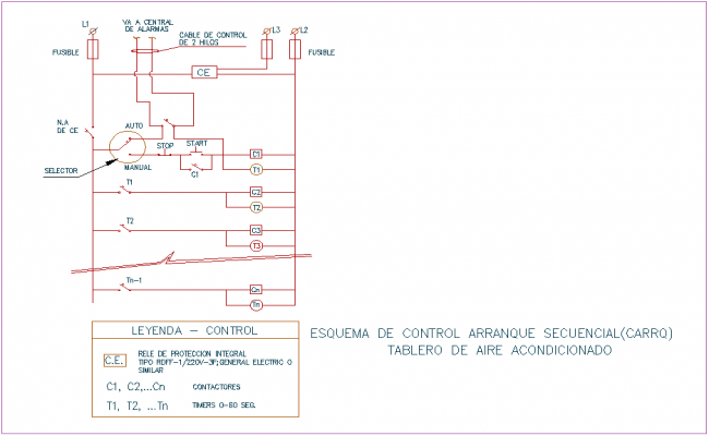 Sequence control board with electrical view of air condition board or bank agency dwg file