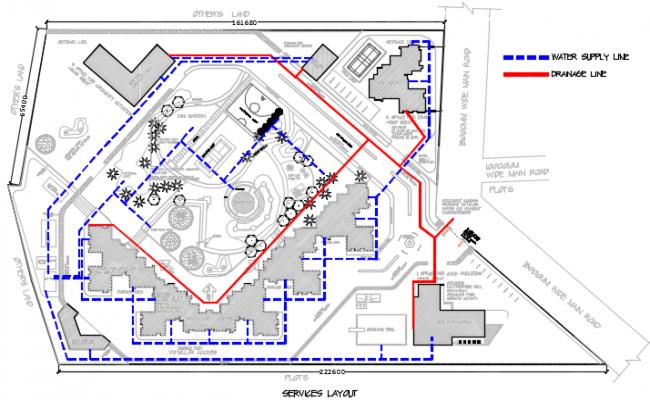 Server layout plan detail dwg file