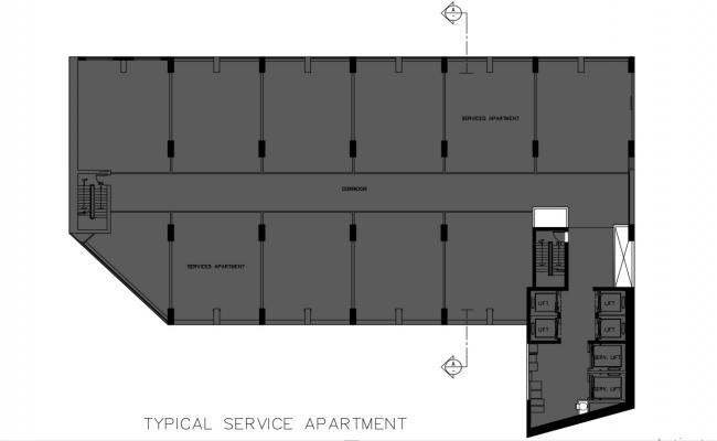 Service Apartment Plan