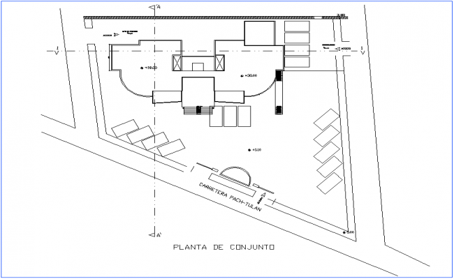Set plan architectural view of office dwg file
