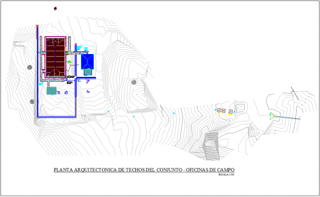 Set plan of ceiling for office with architectural view dwg file