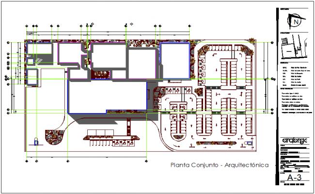 Set plan of hospital dwg file