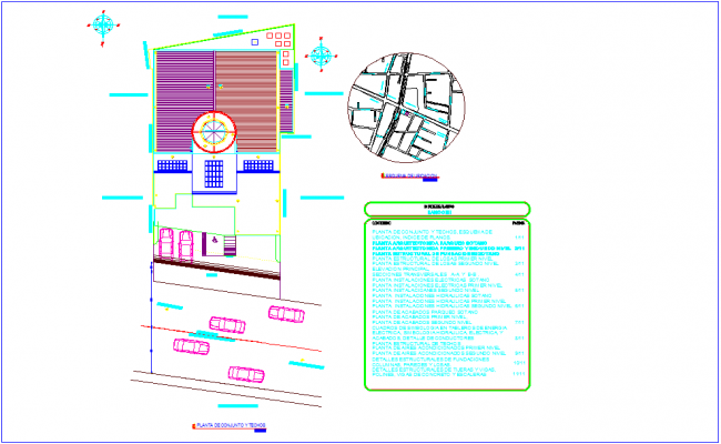 Set plan with ceiling of bank design dwg file