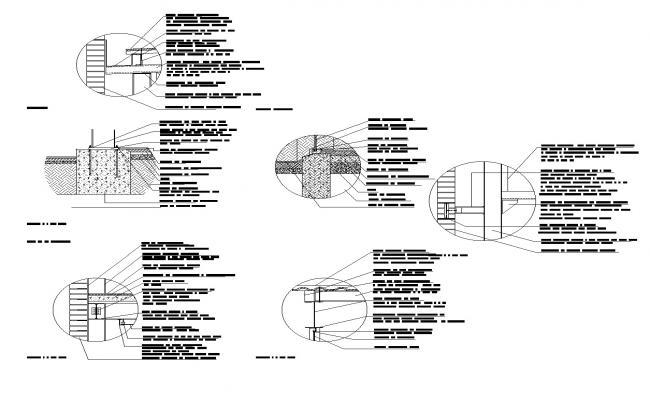 Several detail dwg file