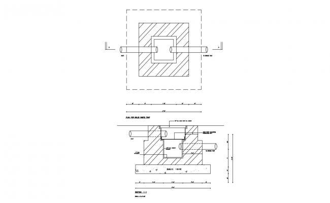 Sewage Tank Free CAD Drawing
