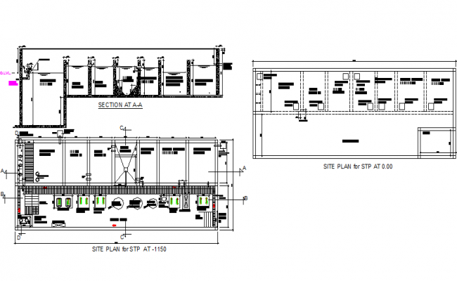 Sewage treatment plan detail dwg file