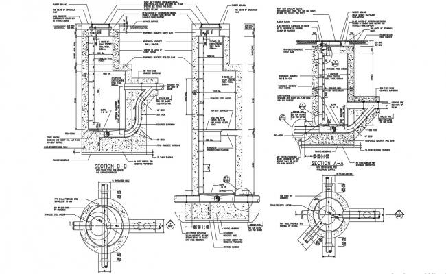 Sewer Clean out Detail Auto CAD plan Drawing File